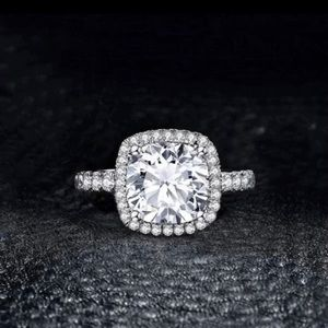 925 Solid Silver simulated diamond Ring